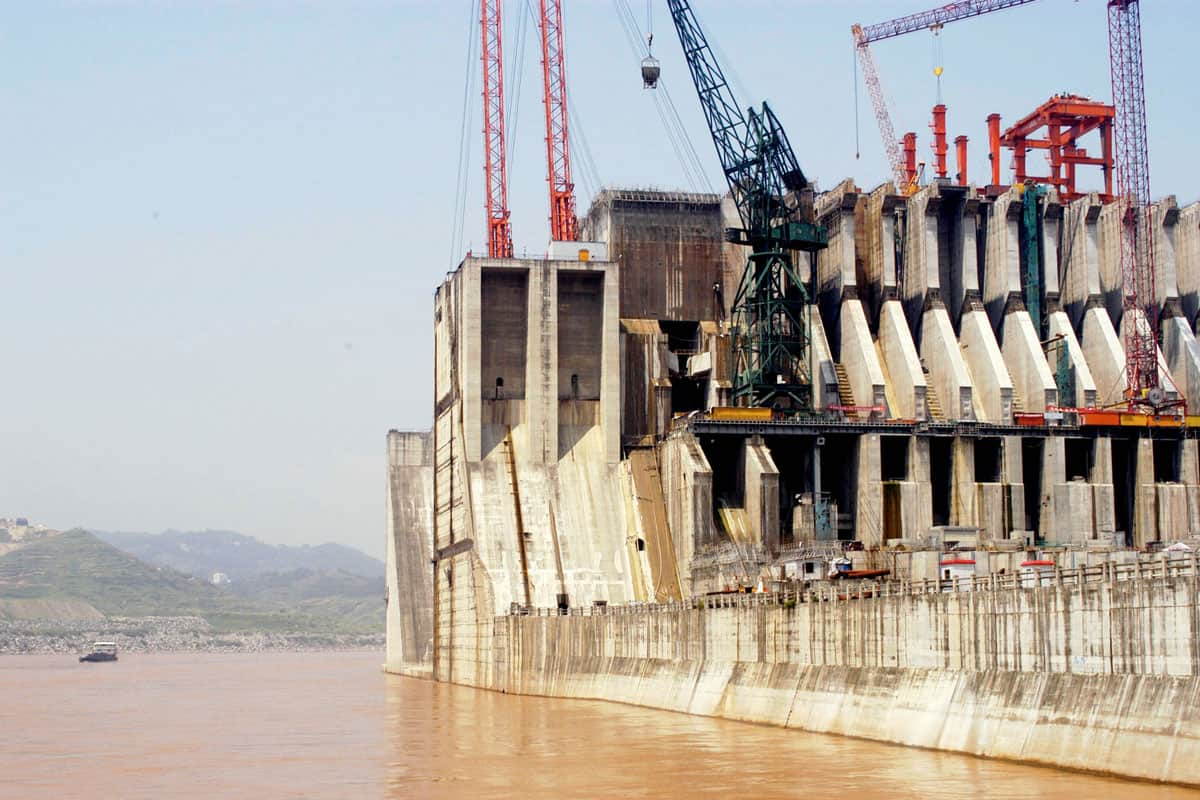 Bau der Drei-Schluchten-Talsperre im Jangtse