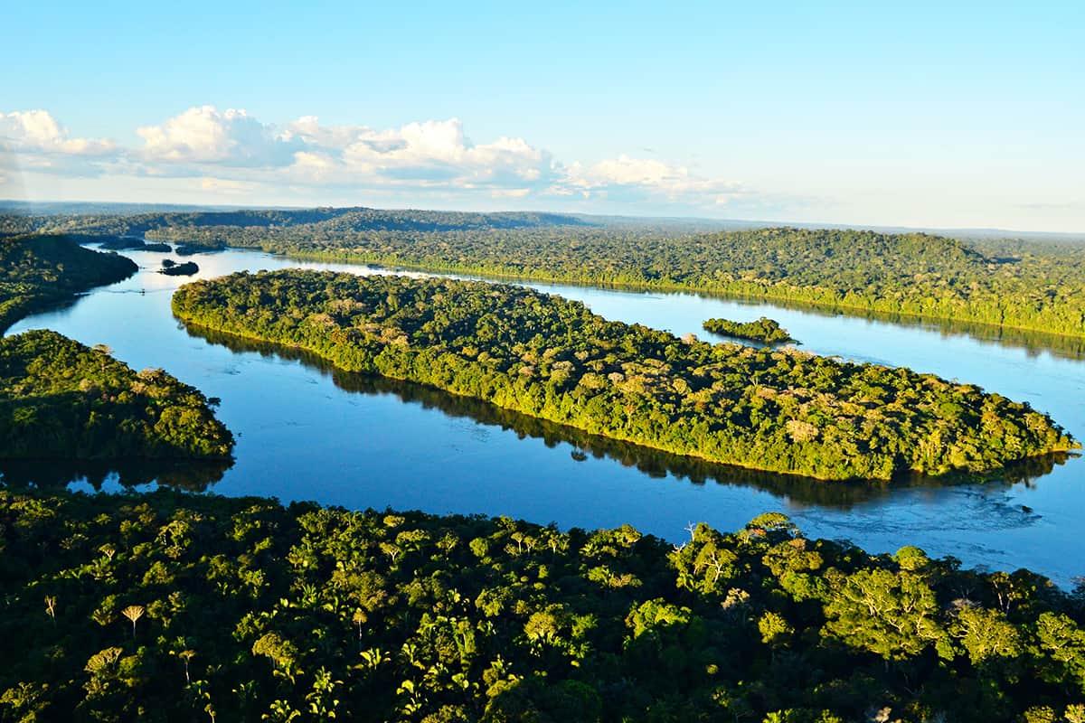 Luftaufnahme des Juruena Fluss, Brasilien