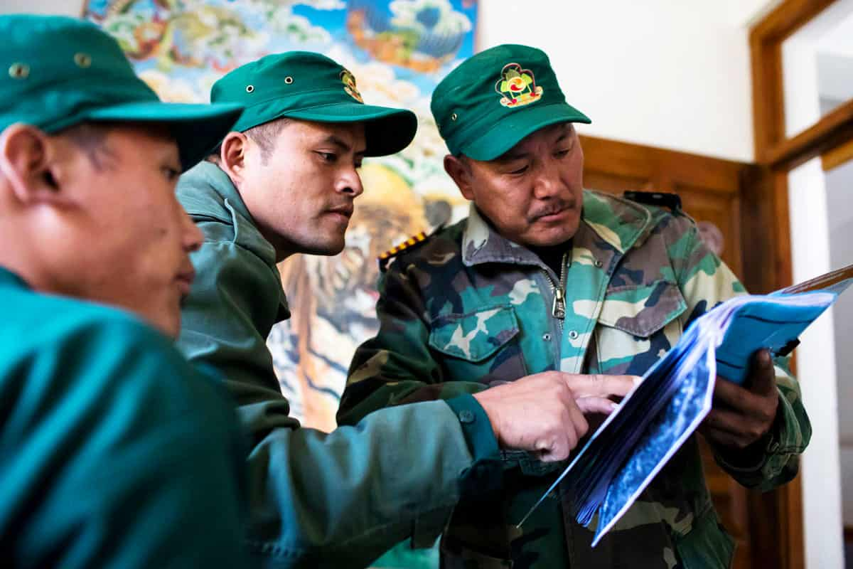 Schulung von staatlichen Ranger in Bhutan