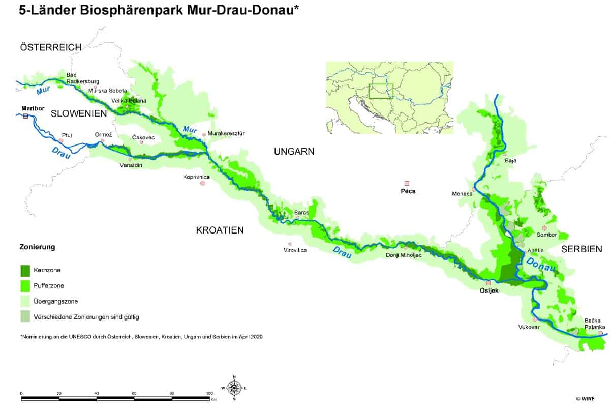 5-Länder Biosphärenpark Mur-Drau-Donau
