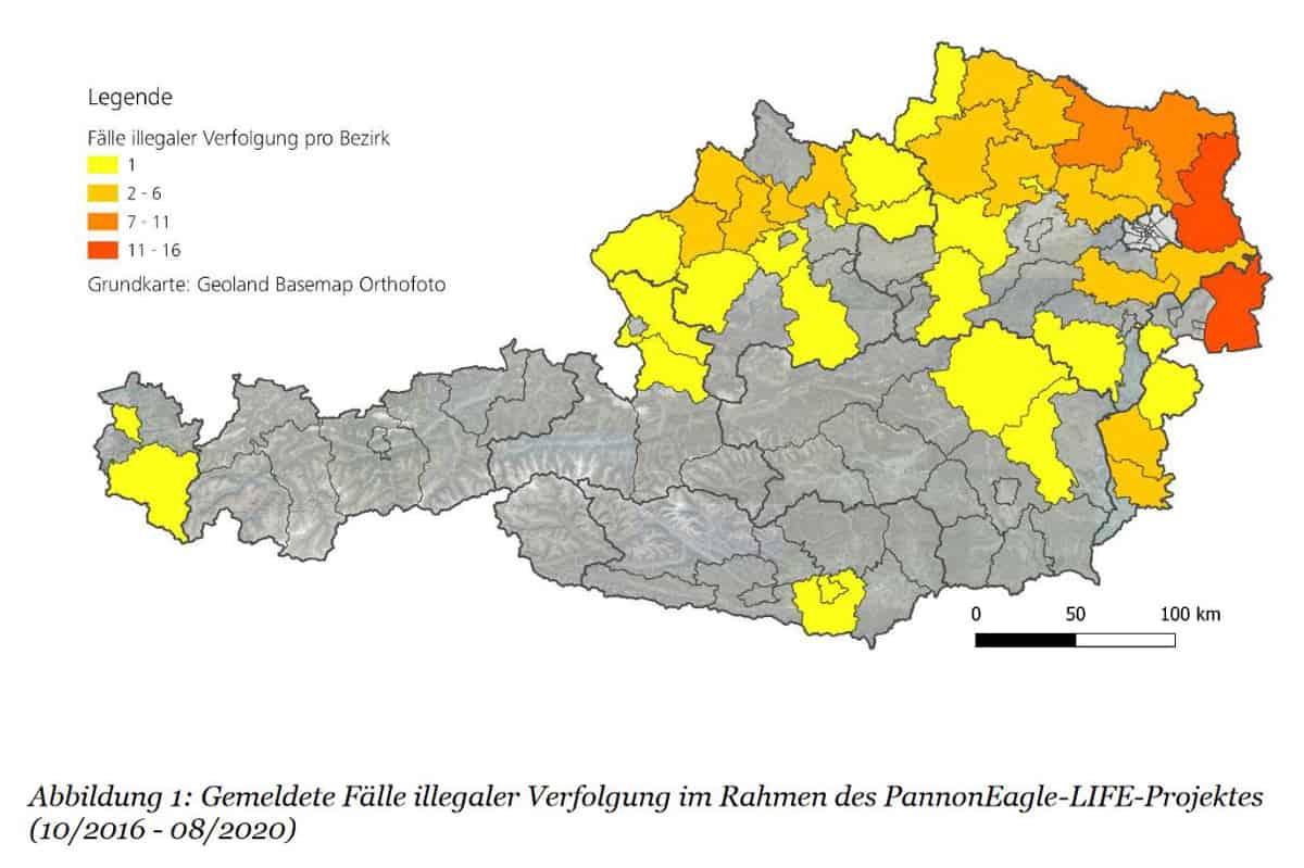 Karte: Gemeldete Fälle illegaler Verfolgung in Österreich.jpg
