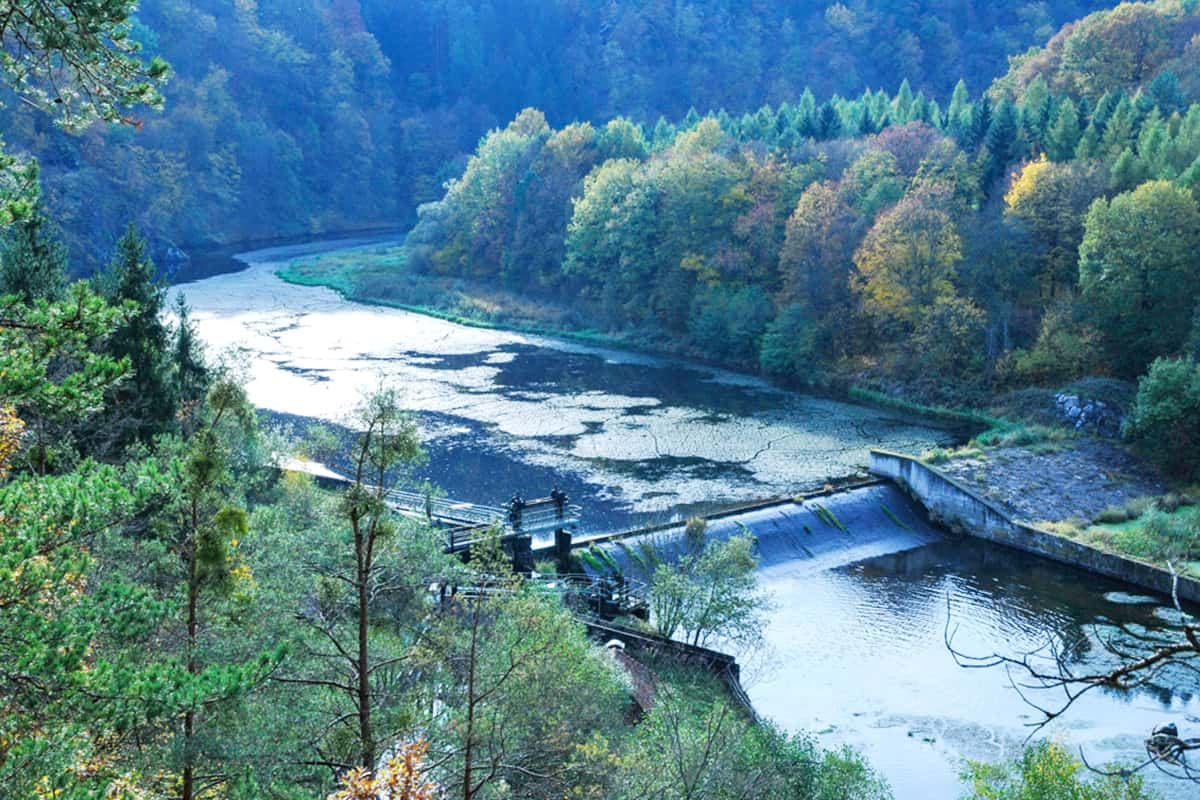 Staudamm bei der Rosenburg