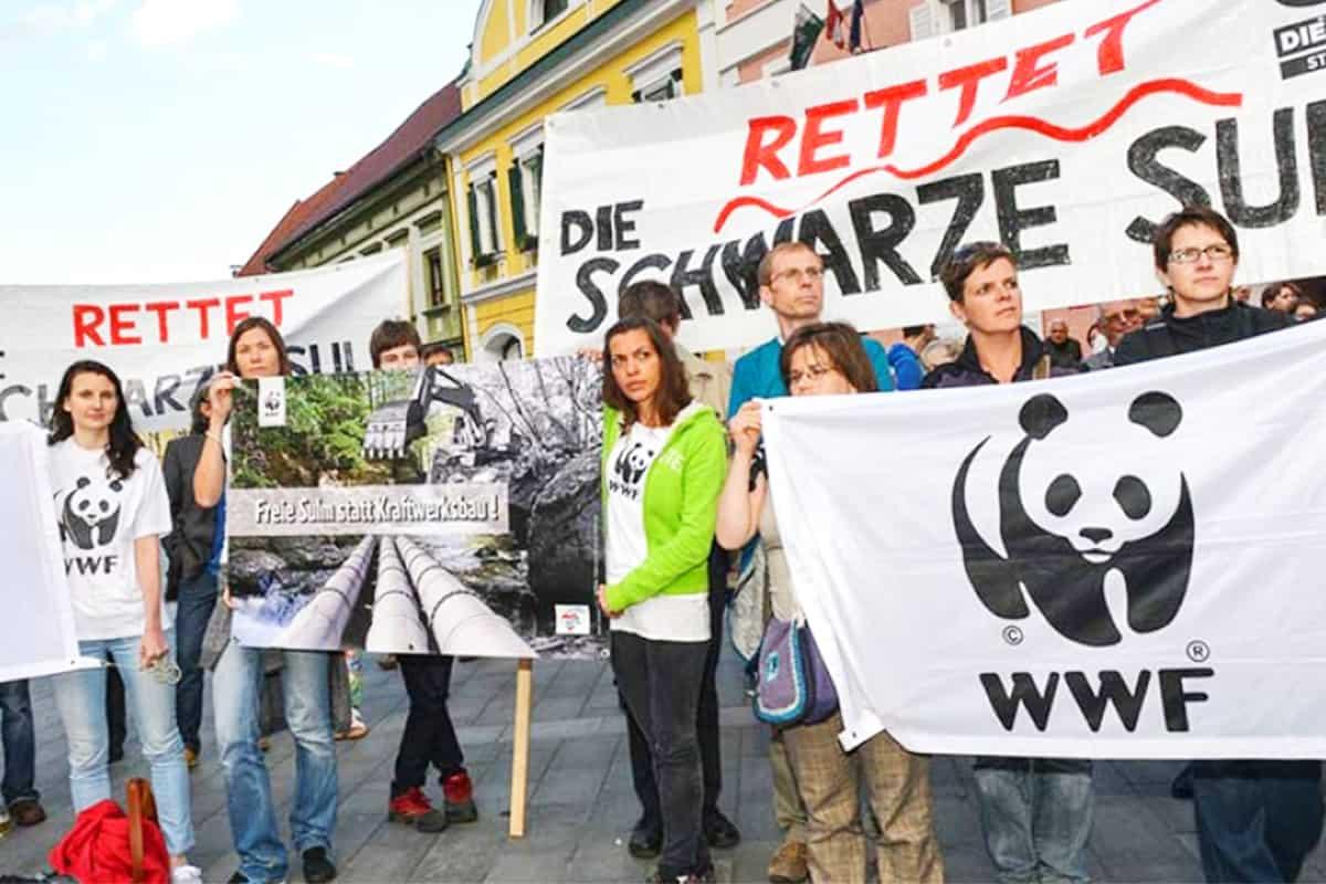 Protestkundgebung bei Schwarzer Sulm
