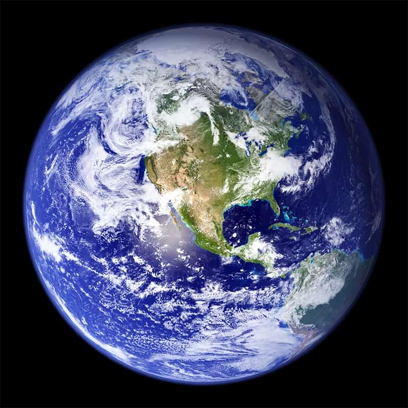 Luftbild von der Erde