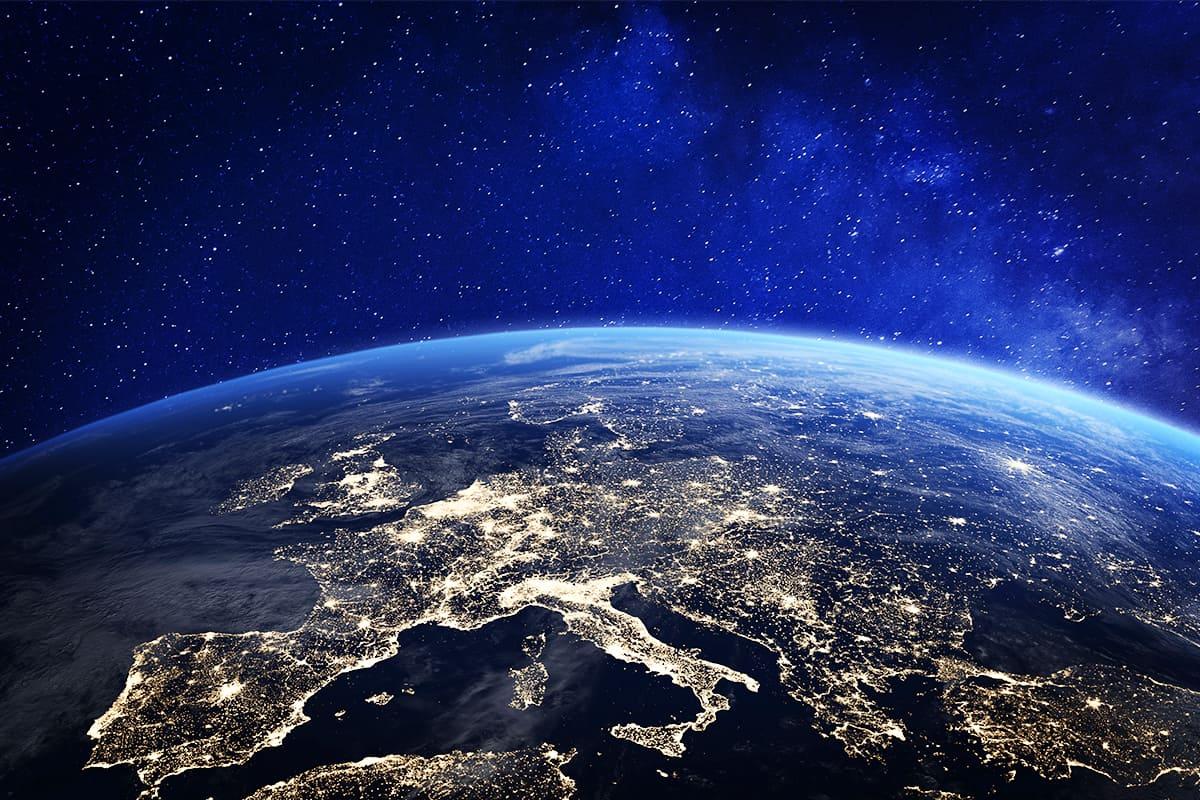 Luftaufnahme der Erde