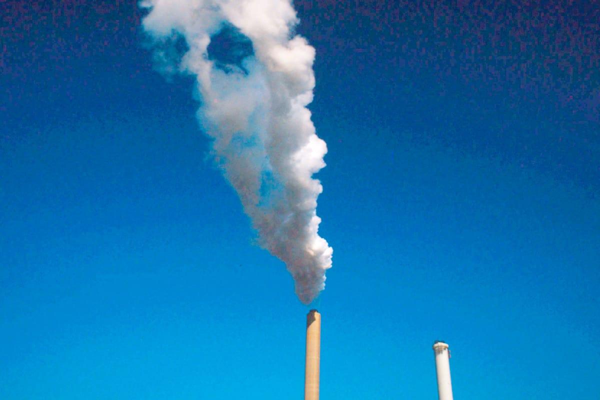 Emissionen einer Fabrik