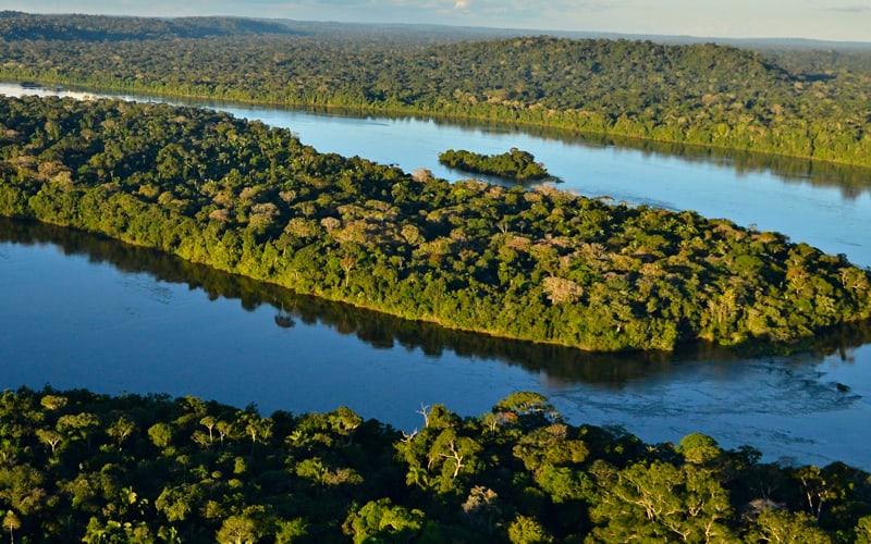 Luftaufnahme des Juruena Fluss