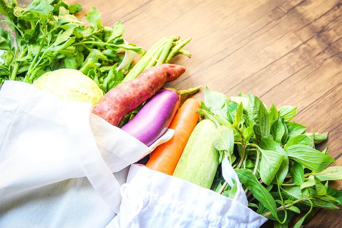 Beutel mit Gemüse