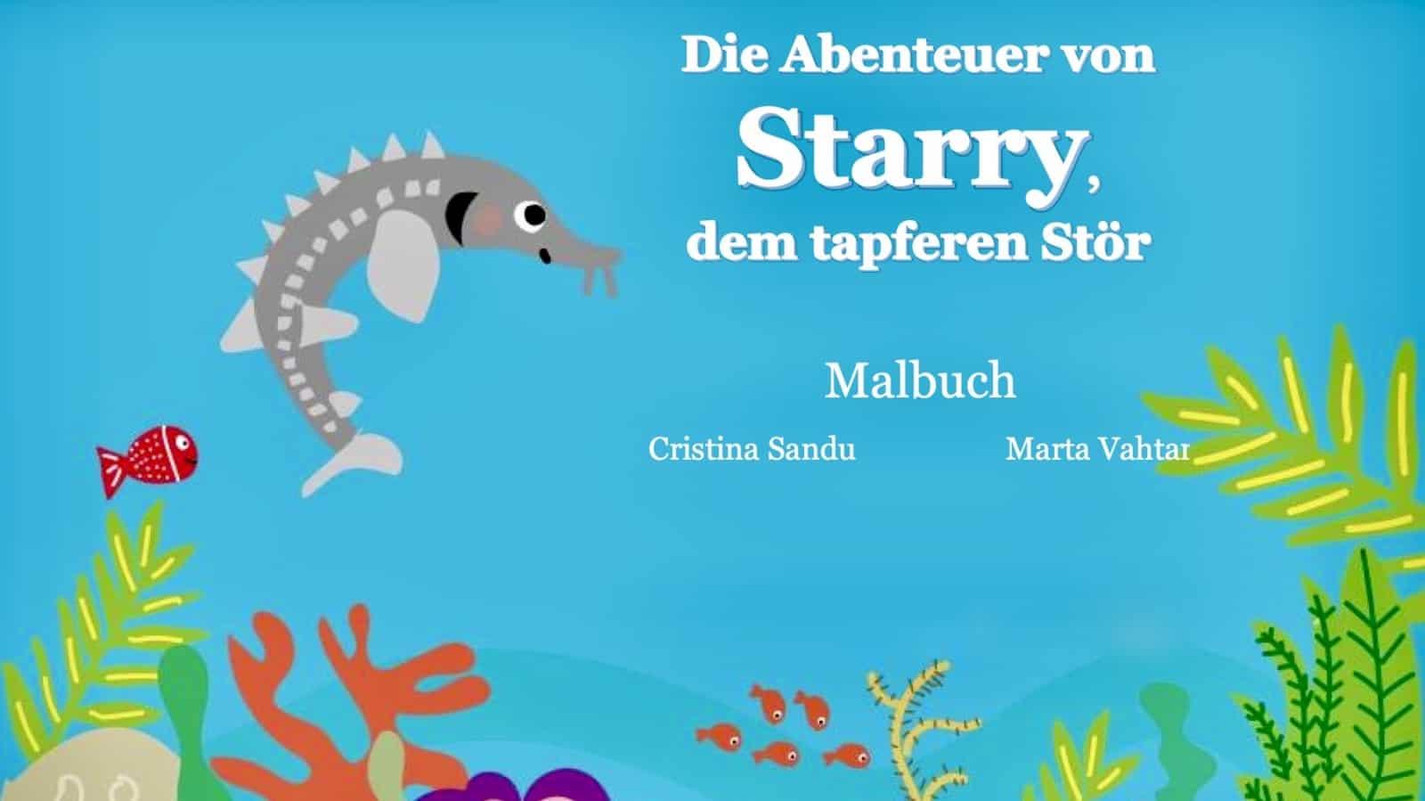 Starry, der tapfere Stör: Das Malbuch