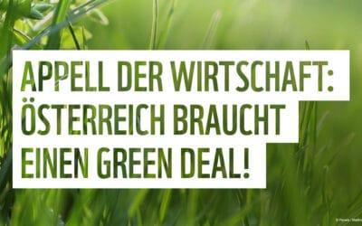 """245 Unternehmen fordern """"österreichischen Green Deal"""""""