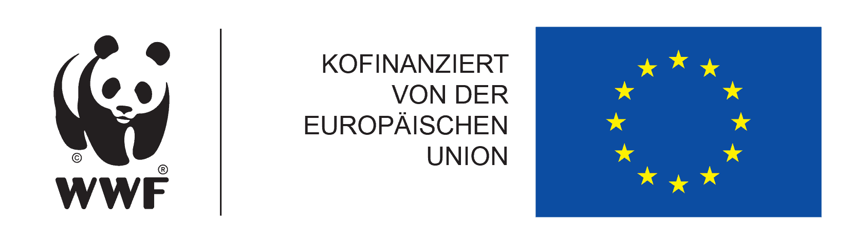WWF und EU logobadge für kofinanzierte Projekte