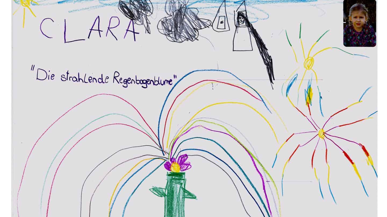 Herrlich bunt ist Clara's strahlende Regenbogenblume © by privat