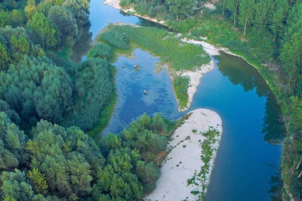 Donauauen-Flugaufnahme © H. Momen/ 4nature