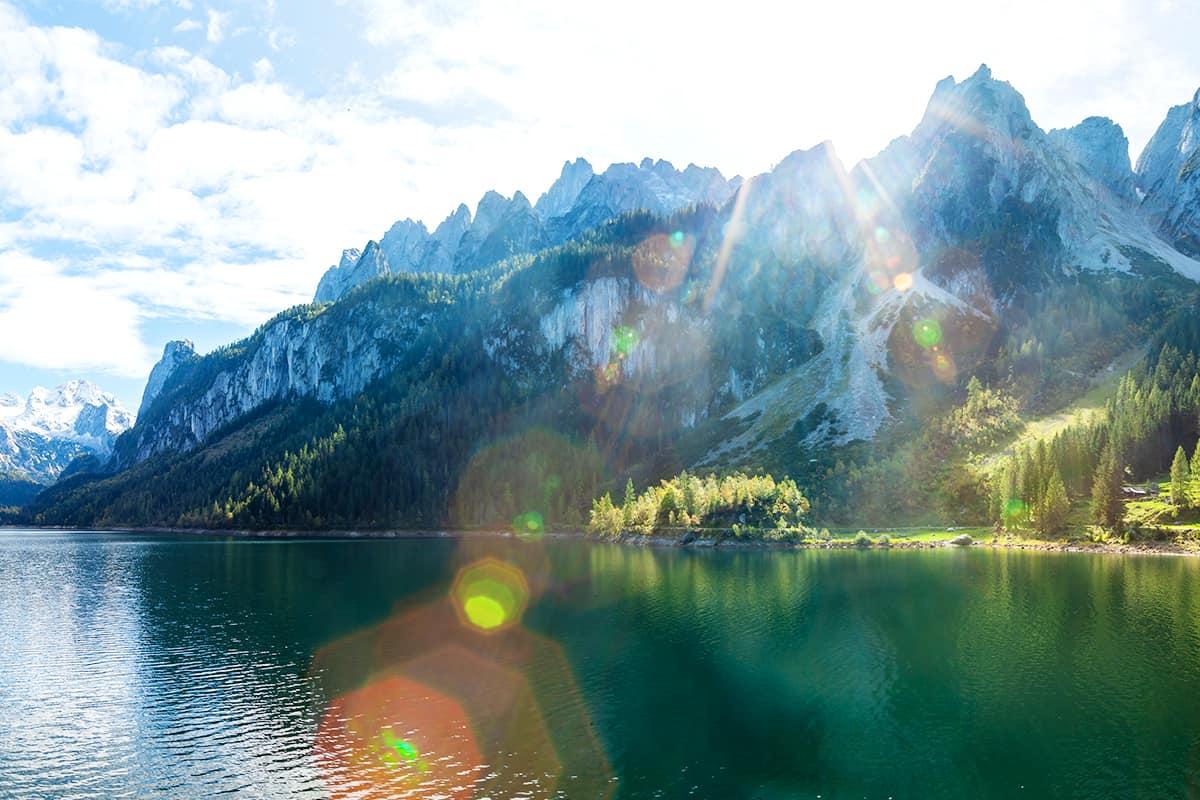Gosau See und Gosaukamm mit Dachstein im Blick