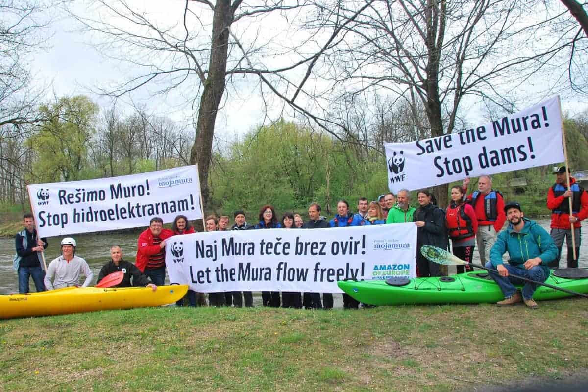 Kampagne für den Schutz der Flüsse/ © WWF