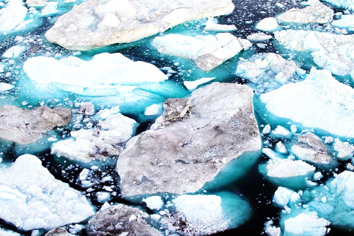 schmelzendes Gletschereis