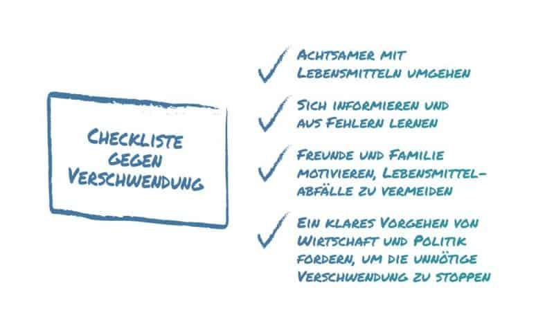 Checkliste gegen Verschwendung © WWF Österreich