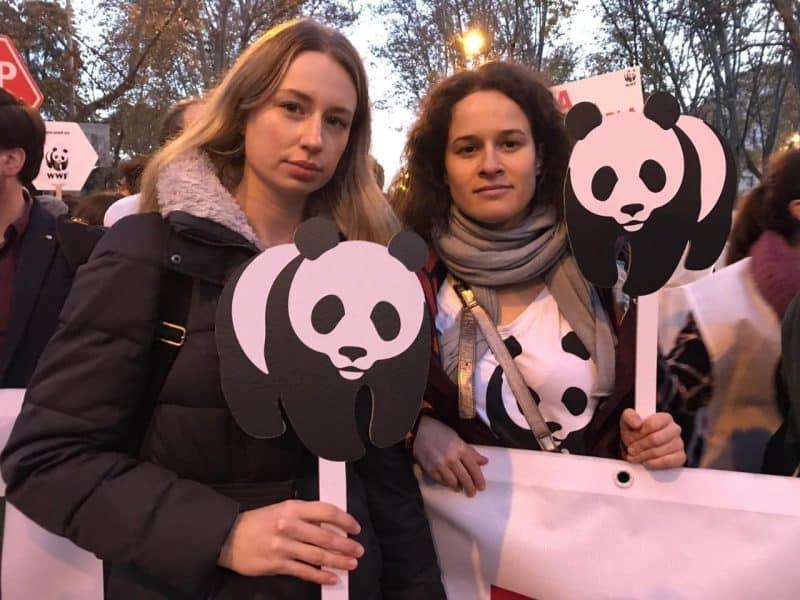 Jenny Bauderer und Lisa Plattner vom WWF Österreich auf der Klimakonferenz in Madrid © WWF
