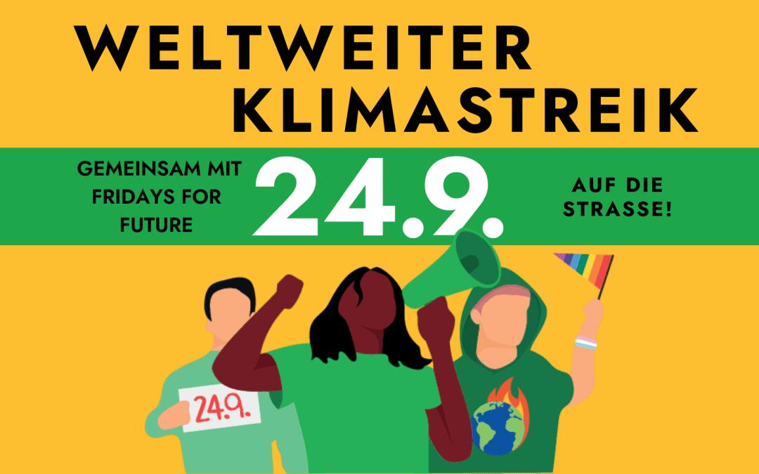 WWF und Fridays for Future: Climate Action Now! TEAM PANDA beim weltweiten Klimastreik am 24. September