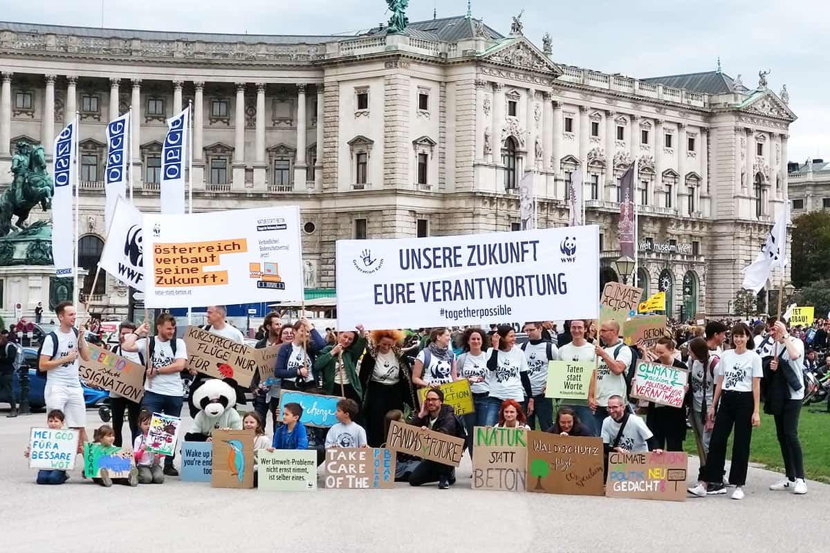 WWF-Gruppenbild vom Klimastreik @ Tamara Greiner / WWF