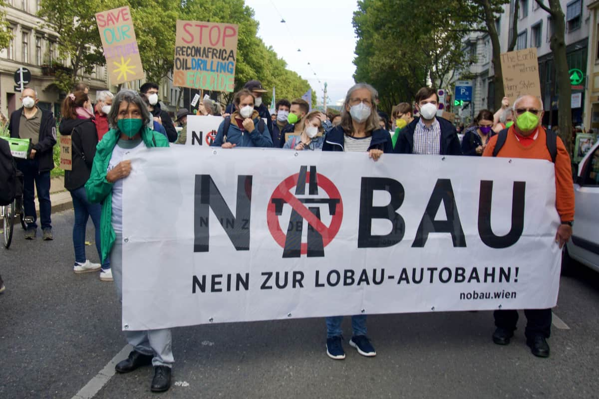 Protest gegen die Lobau-Autobahn