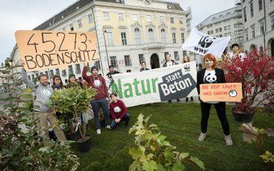 "WWF-Protestaktion ""Natur statt Beton"": Bodenschutz-Gipfel muss Flächenfraß stoppen"